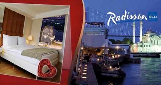 Radisson Blu Bosphorus Hotel'de Sevgililer Günü galası ve konaklama seçenekleri 189 TL'den başlayan fiyatlarla! 10-14 Şubat 2017 arasında geçerlidir.