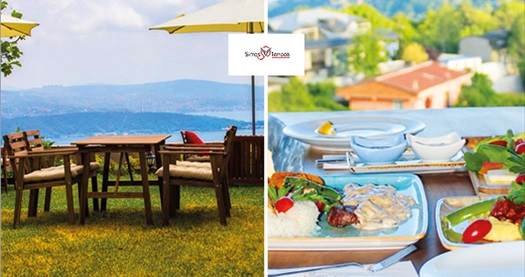 Sarıyer Simas Terrace Cafe & Restaurant'ta deniz manzarası eşliğinde enfes iftar menüsü seçenekleri 44,90 TL'den başlayan fiyatlarla! 27 Mayıs - 24 Haziran 2017 tarihleri arasında, iftar saatinde geçerlidir.