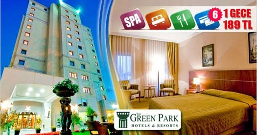 Anadolu Yakası'nın ilk 5 yıldızı The Green Park Hotel Bostancı'da çift kişilik 1 gece konaklama ve spa keyfi 189 TL'den başlayan fiyatlarla! Bayram ve resmi tatiller DAHİL; 29 Aralık 2013 tarihine kadar, Cuma, Cumartesi ve Pazar geceleri için geçerlidir. Fırsata; spa (Türk hamamı, sauna, kapalı havuz) kullanımı dahildir.