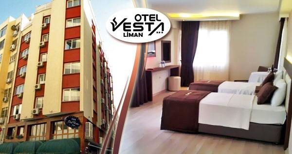 Alsancak Vesta Liman Hotel'de kahvaltı dahil çift kişilik 1 gece konaklama 149 TL'den başlayan fiyatlarla! Fırsatın geçerlilik tarihi için, DETAYLAR bölümünü inceleyiniz.