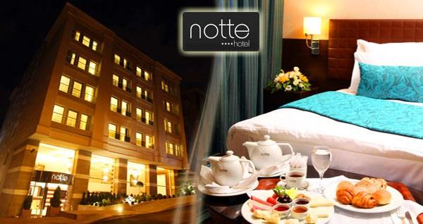 Ankara'nın güler yüzlü adresi Notte Hotel'de çift kişilik 1 gece kahvaltı dahil konaklama ve spa keyfi 290 TL yerine 164 TL! Fırsatın geçerlilik tarihi için DETAYLAR bölümünü inceleyiniz.