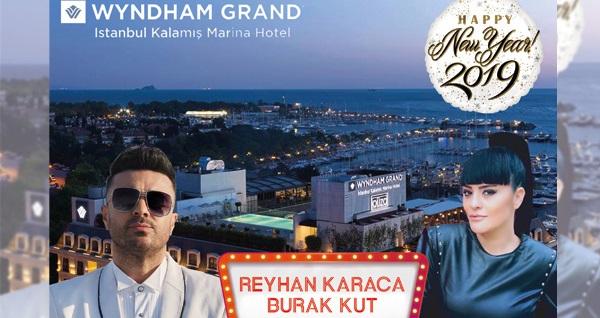 Wyndham Grand İstanbul Kalamış Marina Hotel'de Burak Kut & Reyhan Karaca yılbaşı 90´lar partisi kişi başı