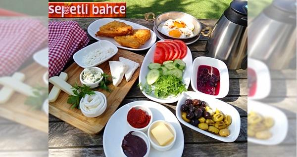 Sepetli Bahçe'de zengin içerikli serpme kahvaltı menüsü 34,90 TL! Fırsatın geçerlilik tarihi için DETAYLAR bölümünü inceleyiniz.