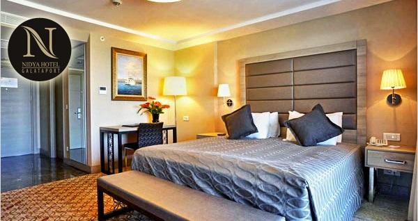 Nefes kesici Boğaz manzarasıyla Nidya Hotel Galataport'ta çift kişilik 1 gece konaklama ve spa keyfi 169 TL'den başlayan fiyatlarla! Fırsatın geçerlilik tarihi için DETAYLAR bölümünü inceleyiniz.