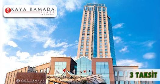 Beylikdüzü Kaya Ramada Plaza Hotel'de açık büfe kahvaltı, havuz ve tesis kullanımı dahil çift kişilik konaklama paketleri 159 TL'den başlayan fiyatlarla! Bayram dönemi DAHİL, fuar dönemi HARİÇ; 15 Haziran-1 Eylül 2015 tarihleri arasında haftanın her günü geçerlidir. Fırsata; çift kişilik 1 VEYA 2 gece konaklama, açık büfe kahvaltı ve SPA dahildir.