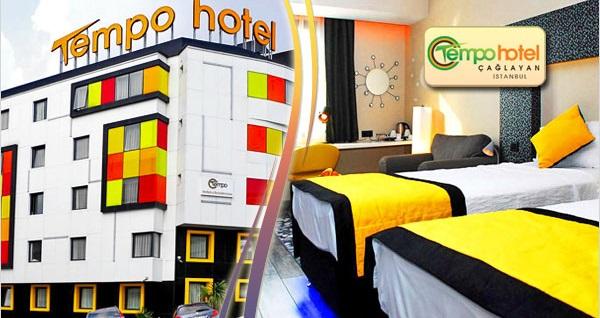 İstanbul'un renkli adresi Tempo Hotel Çağlayan'da kahvaltı dahil çift kişilik 1 gece konaklama 350 TL yerine 239 TL! Fırsatın geçerlilik tarihi için, DETAYLAR bölümünü inceleyiniz.