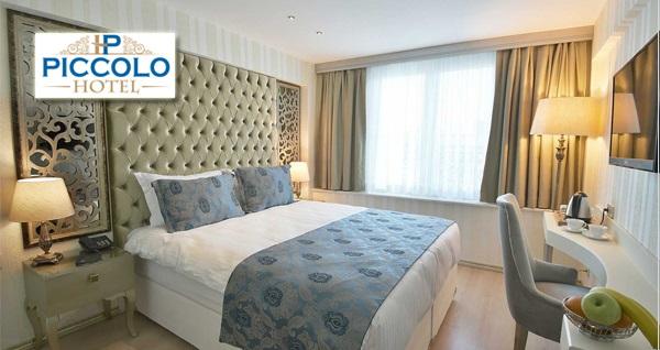 Bakırköy Piccolo Hotel İstanbul'da kahvaltı dahil çift kişi 1 gece konaklama seçenekleri 295 TL'den başlayan fiyatlarla! Fırsatın geçerlilik tarihi için DETAYLAR bölümünü inceleyiniz.