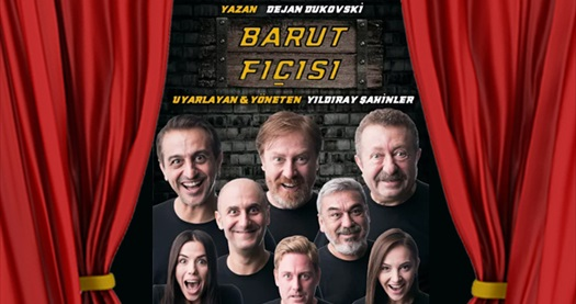 """Balkanlar, Avrupa ve Amerika'dan sonra Türkiye'de sahnelenen """"Barut Fıçısı"""" oyununa biletler 50 TL'den başlayan fiyatlarla! Tarih ve konum seçimi yapmak için """"Hemen Al"""" butonuna tıklayınız."""