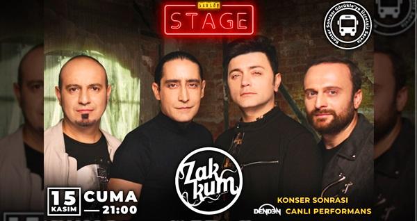 15 Kasım'da Şarlo Stage'te gerçekleşecek Zakkum konserine biletler 57 TL yerine 40 TL! 15 Kasım 2019 | 21.00 | Şarlo Stage
