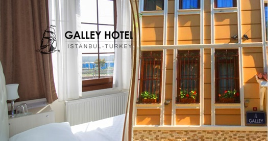 Sultanahmet Galley Hotel'de kahvaltı dahil çift kişilik 1 gece konaklama seçenekleri 89 TL'den başlayan fiyatlarla! Fırsatın geçerlilik tarihi için, DETAYLAR bölümünü inceleyiniz.