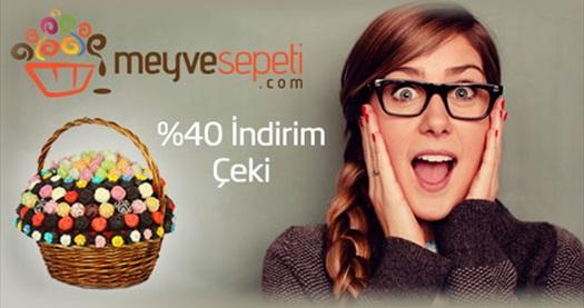 Meyve ve çikolatanın büyülü aşkı Meyvesepeti.com'da geçerli %40 indirim sağlayan hediye çeki 4 TL! Meyvesepeti.com şubelerinin bulunduğu illerde AYNI GÜN ÜCRETSİZ teslimat yapılır.