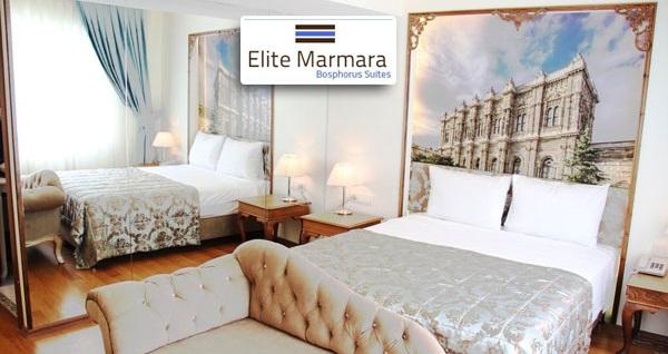 Ortaköy Elite Marmara Bosphorus Suit'te kahvaltı dahil çift kişilik 1 gece konaklama 199 TL! Fırsatın geçerlilik tarihi için, DETAYLAR bölümünü inceleyiniz.