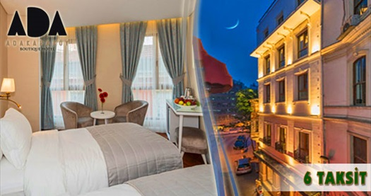 Ada Karaköy Hotel'de kahvaltı dahil çift kişilik 1 gece konaklama 179 TL'den başlayan fiyatlarla! Özel Günler HARİÇ; 20 Aralık 2015 tarihine kadar, haftanın her günü geçerlidir. Fırsata; çift kişilik 1 gece konaklama ve kahvaltı dahildir.