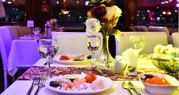 Bosphorus Magic'dan Boğaz turu eşliğinde eğlenceli yemek menüleri 179 TL'den başlayan fiyatlarla! Fırsatın geçerlilik tarihi için DETAYLAR bölümünü inceleyiniz.