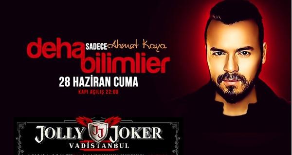 28 Haziran'da Jolly Joker Vadistanbul Sahnesi'nde gerçekleşecek Deha Bilimlier konserine biletler 49,90 TL'den başlayan fiyatlarla! 28 Haziran 2019   22:00   Jolly Joker Vadistanbul Sahnesi