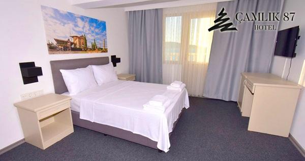 Ayvalık Çamlık 87 Hotel'de kahvaltı dahil 1 gecelik konaklama seçenekleri 310 TL'den başlayan fiyatlarla! Fırsatın geçerlilik tarihi için, DETAYLAR bölümünü inceleyiniz.