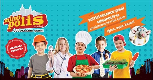 Eğitici eğlence şehri Minopolis'e giriş bileti 23,90 TL'den başlayan fiyatlarla! RAMAZAN BAYRAMI HARİÇ; 7 Eylül 2015 tarihine kadar geçerlidir. PAZARTESİ GÜNLERİ KAPALIDIR. 8 yaşın altındaki ziyaretçiler ebeveyn eşliğinde Minopolis İstanbul'a giriş yapabilir.