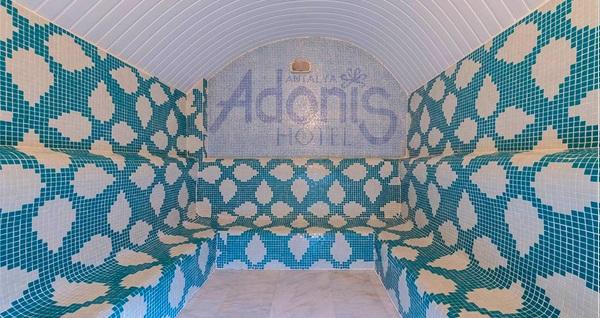 Adonis Hotel Antalya'da masaj ve ıslak alan seçenekleri ve sıcak içecek ikramı 70 TL'den başlayan fiyatlarla! Fırsatın geçerlilik tarihi için DETAYLAR bölümünü inceleyiniz.