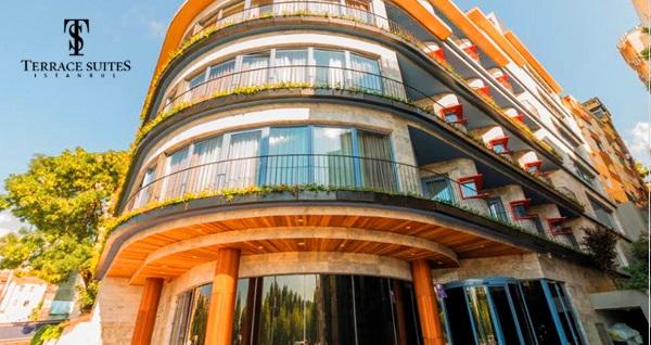 Terrace Suites İstanbul'un farklı odalarında çift kişilik 1 gece konaklama seçenekleri