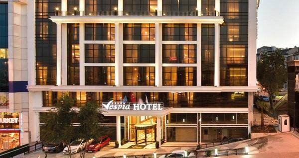 Beylikdüzü Vespia Hotel'de kahvaltı dahil tek veya çift kişilik 1 gece konaklama seçenekleri 169 TL'den başlayan fiyatlarla! Fırsatın geçerlilik tarihi için, DETAYLAR bölümünü inceleyiniz.