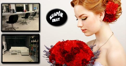 Kadıköy Eray Kuaför'de saçlarınıza özel dokunuşlar veya gelinlere özel güzellik paketleri 14,90 TL'den başlayan fiyatlarla! 31 Ocak 2015 tarihine kadar; haftanın her günü 07.30 - 20.30 saatleri arasında geçerlidir.
