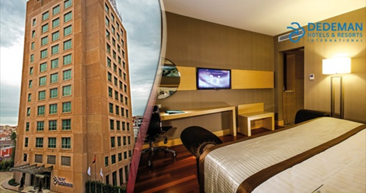 Park Dedeman Bostancı Hotel'de çift kişilik 1 gece konaklama seçenekleri 156 TL'den başlayan fiyatlarla! Fırsatın geçerlilik tarihi için, DETAYLAR bölümünü inceleyiniz.