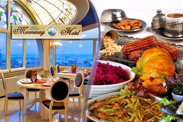 Yenikapı Blue Marmaray Hotel'de açık büfe iftar menüsü 45,90 TL'den başlayan fiyatlarla! 16 Mayıs 2018-14 Haziran 2018 tarihleri arasında, iftar saatinde geçerlidir.