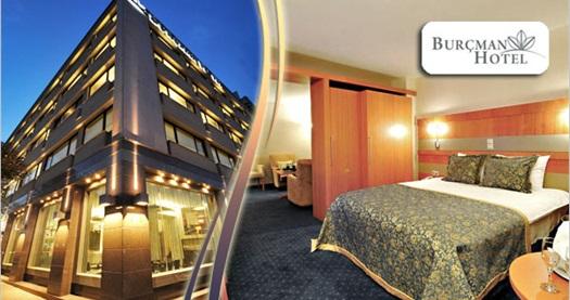 Bursa'nın yıldızlı butik keyfi Osmangazi Burçman Hotel'de kahvaltı dahil çift kişilik 1 gece konaklama 149 TL'den başlayan fiyatlarla! Fırsatın geçerlilik tarihi için, DETAYLAR bölümünü inceleyiniz.