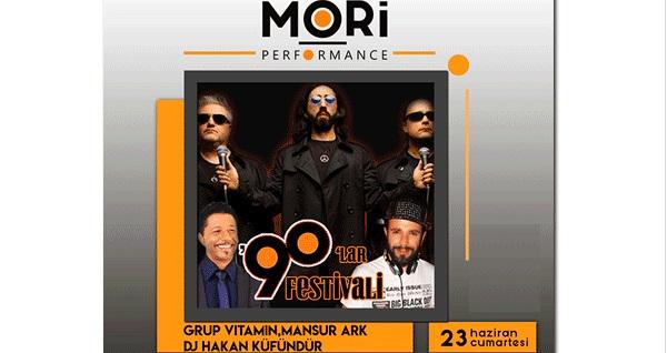 23 Haziran'da Mori Performance Sahnesi'nde gerçekleşecek 90'lar Festivali, Dj Hakan Küfündür, Mansur Ark, Grup Vitamin konserine biletler 18 TL'den başlayan fiyatlarla! 23 Haziran 2018   21:30   Mori Performance Sahnesi
