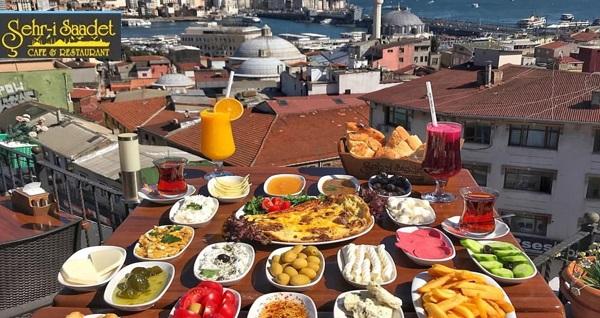 Süleymaniye Şehr-i Saadet Cafe'de İstanbul manzarasına nazır serpme kahvaltı 25,90 TL! Fırsatın geçerlilik tarihi için DETAYLAR bölümünü inceleyiniz.