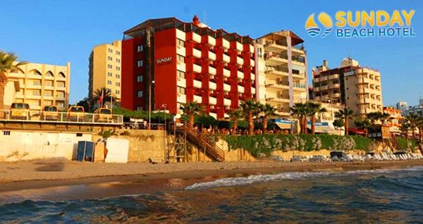 Kuşadası Sunday Beach Hotel'de çift kişilik 1 gece konaklama seçenekleri 149 TL'den başlayan fiyatlarla! Fırsatın geçerlilik tarihi için, DETAYLAR bölümünü inceleyiniz.