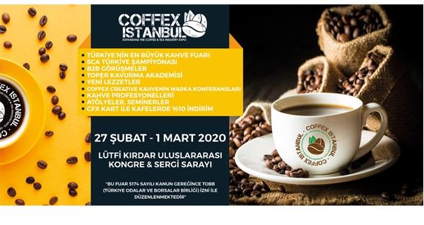 27 Şubat-1 Mart tarihleri arasında Lütfi Kırdar Uluslararası Kongre&Sergi Sarayı'nda gerçekleşecek Kahve Festivali (Coffex) için biletler 30 TL'den başlayan fiyatlarla! 27 Şubat-1 Mart 2020 / Lütfi Kırdar Uluslararası Kongre&Sergi Sarayı