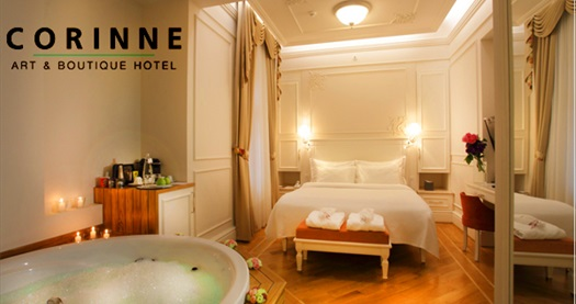 Beyoğlu Corinne Art & Boutique Hotel'de çift kişilik 1 gece jakuzili odada konaklama 449 TL! Fırsatın geçerlilik tarihi için DETAYLAR bölümünü inceleyiniz.