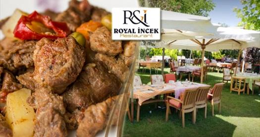 Royal İncek'in doğa ile iç içe ortamında enfes iftar menüleri 39,90 TL'den başlayan fiyatlarla! 6 Mayıs - 3 Haziran 2019 tarihleri arasında, iftar saatinde geçerlidir.