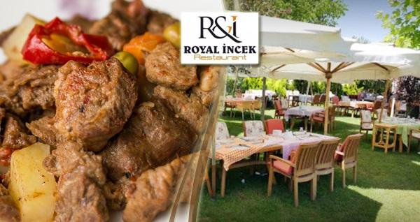 Royal İncek'in doğa ile iç içe ortamında enfes iftar menüleri 44,90 TL'den başlayan fiyatlarla! 6 Mayıs - 3 Haziran 2019 tarihleri arasında, iftar saatinde geçerlidir.
