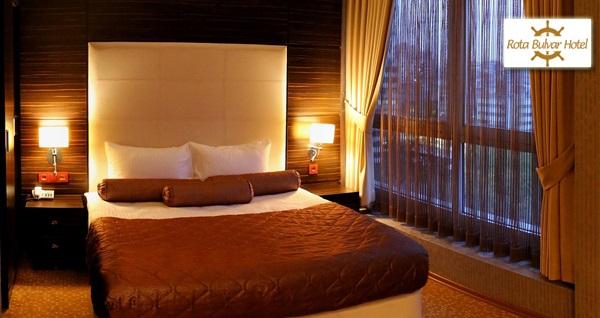 Kızılay Rota Bulvar Hotel'de açık büfe kahvaltı dahil çift kişilik 1 gece konaklama keyfi 125 TL! Fırsatın geçerlilik tarihi için, DETAYLAR bölümünü inceleyiniz.
