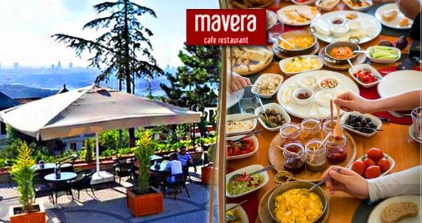 Çamlıca Mavera Cafe & Restaurant'ta serpme kahvaltı veya açık büfe kahvaltı seçenekleri 39,50 TL'den başlayan fiyatlarla! Fırsatın geçerlilik tarihi için DETAYLAR bölümünü inceleyiniz.