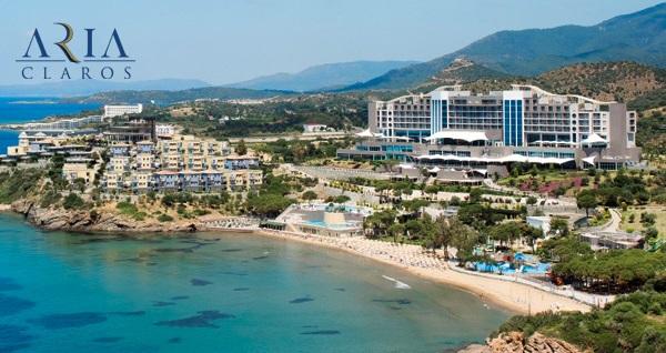 5 yıldızlı Aria Claros Beach & Spa Resort'un farklı odalarında çift kişilik 1 gece YARIM PANSİYON konaklama seçenekleri 255 TL'den başlayan fiyatlarla! Fırsatın geçerlilik tarihi için, DETAYLAR bölümünü inceleyiniz.