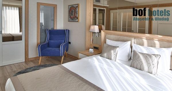 Bof Hotels Ceo Suite Ataşehir'de suite odada çift kişilik 1 gece konaklama 339 TL yerine 289 TL! Fırsatın geçerlilik tarihi için DETAYLAR bölümünü inceleyiniz.