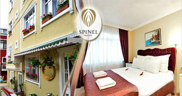 Sultanahmet'in keyif noktası Spinel Hotel'de kahvaltı dahil 1 gece konaklama keyfi 185 TL'den başlayan fiyatlarla! Fırsatın geçerlilik tarihi için, DETAYLAR bölümünü inceleyiniz.