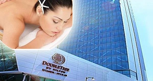 Avcılar Double Tree Hilton'da profesyonel Balili terapistler eşliğinde SPA kullanımı dahil 50 dakikalık masaj