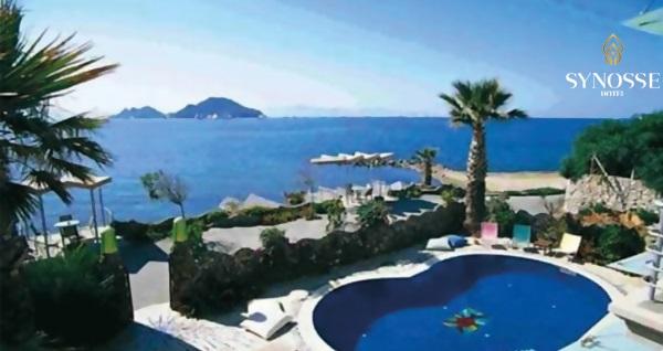 Denize sıfır Synosse Hotel Turgutreis'te kahvaltı dahil 2 veya 3 kişilik 1 gece konaklama seçenekleri 180 TL'den başlayan fiyatlarla! Fırsatın geçerlilik tarihi için, DETAYLAR bölümünü inceleyiniz.