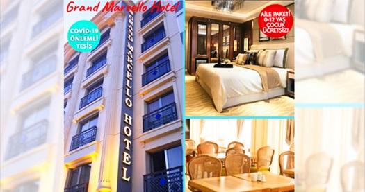 Laleli Grand Marcello Hotel'de aile konaklama paketi seçenekleri 199 TL'den başlayan fiyatlarla! Fırsatın geçerlilik tarihi için DETAYLAR bölümünü inceleyiniz.