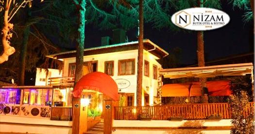 Büyükada Nizam Butik Hotel'de kahvaltı dahil çift kişilik 1 gece konaklama keyfi 99 TL'den başlayan fiyatlarla! Fırsatın geçerlilik tarihi için DETAYLAR bölümünü inceleyiniz.