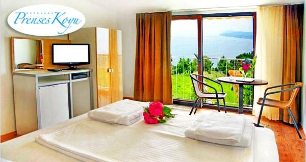 Büyükada'nın eşsiz köşesi Prenses Koyu Butik Hotel'de kahvaltı dahil çift kişilik 1 gece konaklama ve plaj keyfi 199 TL! Fırsatın geçerlilik tarihi için, DETAYLAR bölümünü inceleyiniz.