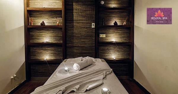 Club Aydınoğlu Rouyal Spa'da ıslak alan kullanımı ve içecek ikramı dahil 50 dakika masaj seçenekleri 59 TL'den başlayan fiyatlarla! Fırsatın geçerlilik tarihi için DETAYLAR bölümünü inceleyiniz.