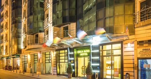 Sirkeci Orka Royal Hotel'de kahvaltı dahil çift kişilik 1 gece konaklama ve spa keyfi 129 TL'den başlayan fiyatlarla! Fırsatın geçerlilik tarihi için, DETAYLAR bölümünü inceleyiniz.