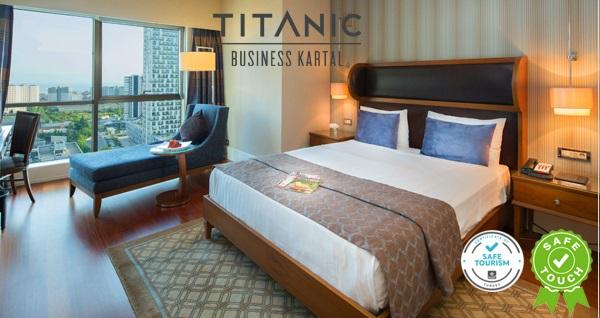 Titanic Business Kartal Otel'de çift kişilik 1-2 veya 3 gece konaklama seçenekleri 449 TL'den başlayan fiyatlarla! Fırsatın geçerlilik tarihi için DETAYLAR bölümünü inceleyiniz.