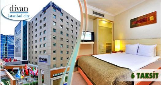 Gayrettepe Divan İstanbul City Hotel'de çift kişilik konaklama ve spa keyfi 149 TL'den başlayan fiyatlarla! Özel günler HARİÇ; 31 Mart 2016 tarihine kadar Cuma, Cumartesi ve Pazar geçerlidir. Fırsata; deluxe odalarda çift kişilik 1 gece kahvaltı HARİÇ veya DAHİL konaklama ve spa dahildir.