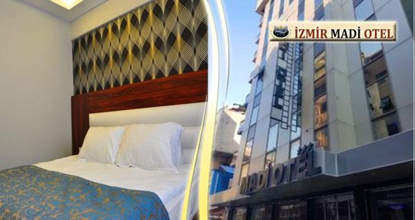 Şehrin merkezinde İzmir Madi Otel'de kahvaltı dahil çift kişilik 1 gece konaklama 139 TL'den başlayan fiyatlarla! Fırsatın geçerlilik tarihi için DETAYLAR bölümünü inceleyiniz.